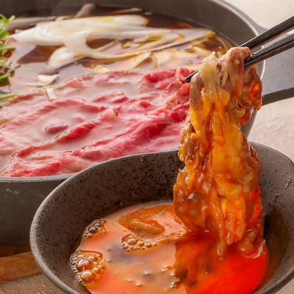 国産豚肉使用 和牛すき鍋