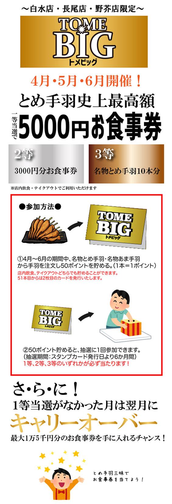 白水店・長尾店・野芥店限定~とめBIG~ 画像